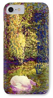 Willow Lake Paintings iPhone Cases