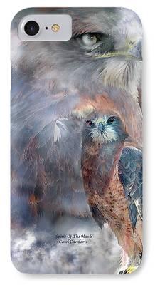 Hawk Art Giclee iPhone Cases
