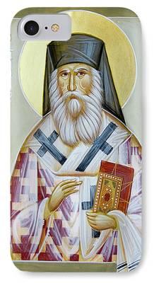 St Nektarios Icon iPhone Cases