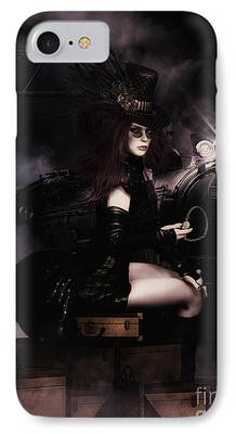 Hairstyle Digital Art iPhone Cases
