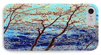 Turbulent Skies Digital Art iPhone Cases