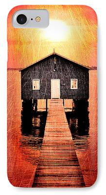 Shed Digital Art iPhone Cases