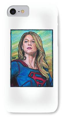 Supergirl Drawings iPhone Cases