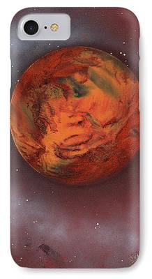 Terrestrial Sphere Paintings iPhone Cases