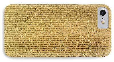 Constitution Paintings iPhone Cases