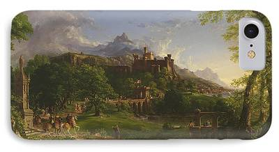 Medieval Temple Paintings iPhone Cases