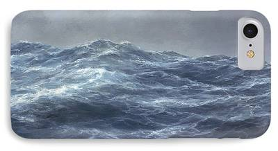 Turbulent Skies Paintings iPhone Cases