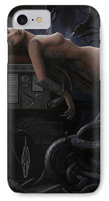 Mechanism Paintings iPhone Cases