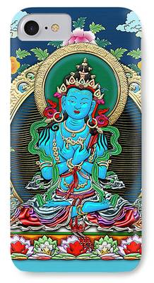 Tibetan Buddhism Digital Art iPhone Cases
