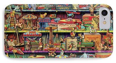 Toy Shop Digital Art iPhone Cases