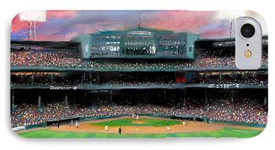 Baseball Stadiums Paintings iPhone Cases