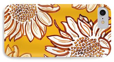 Digital Sunflower iPhone Cases