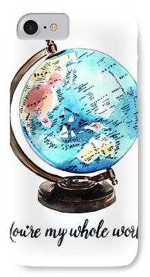 Globe Paintings iPhone Cases