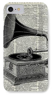 Musican Drawings iPhone Cases