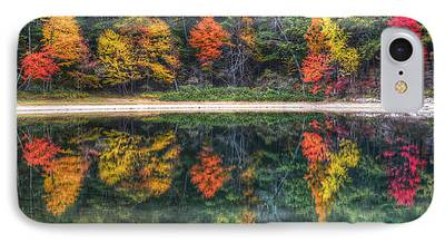 Walden Pond Digital Art iPhone Cases