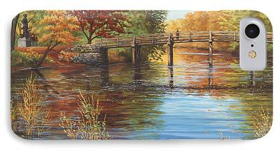 Concord Massachusetts Paintings iPhone Cases