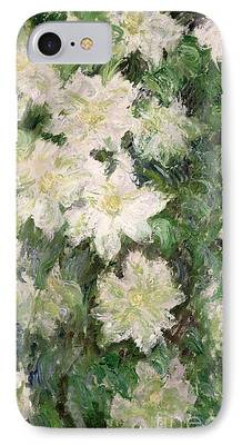 Close Up Floral Paintings iPhone Cases