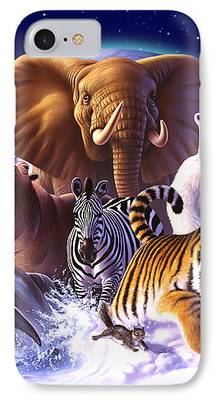 Planet Paintings iPhone Cases