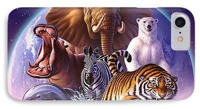 Tiger Digital Art iPhone Cases