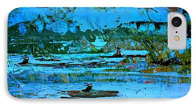 Fantasy Landscape With Figure Digital Art iPhone Cases