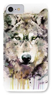 Canis Lupus Mixed Media iPhone Cases