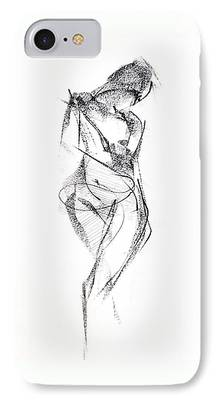 Graphite Drawing Drawings iPhone Cases
