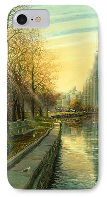 Hancock Building Paintings iPhone Cases