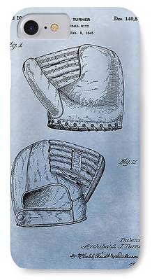 Baseball Glove Mixed Media iPhone Cases