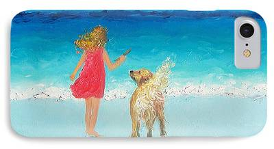 Whimsical Dog Art iPhone Cases
