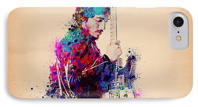 Rock N Roll Paintings iPhone Cases