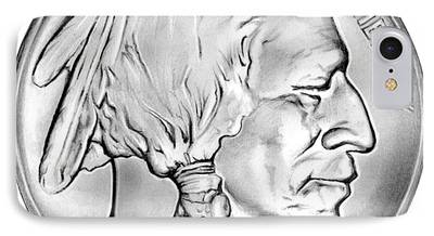 Coins Drawings iPhone Cases