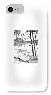 Walden Pond Drawings iPhone Cases