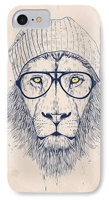 Lion Digital Art iPhone Cases