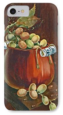 Old Plank Tables Paintings iPhone Cases