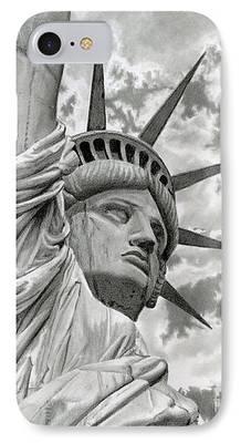 Patriotism Drawings iPhone Cases