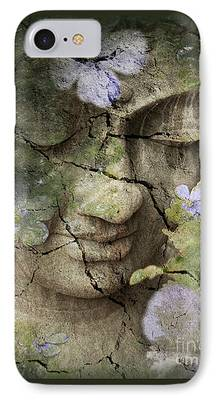 Buddhist Mixed Media iPhone Cases
