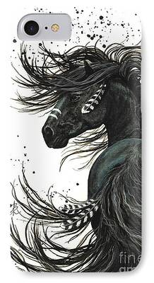 Mustang Paintings iPhone Cases