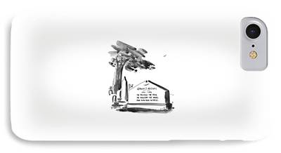 Headstones Drawings iPhone Cases