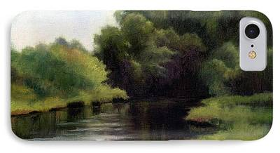 Swan Creek In Hickman County Paintings iPhone Cases