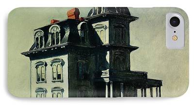 Haunted House Paintings iPhone Cases