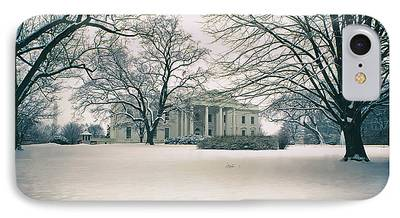 Historic Snowy Mansion iPhone Cases