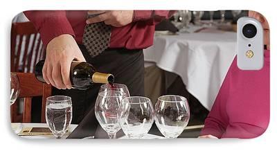 Women Tasting Wine iPhone Cases