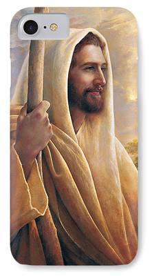 Smiling Jesus iPhone Cases