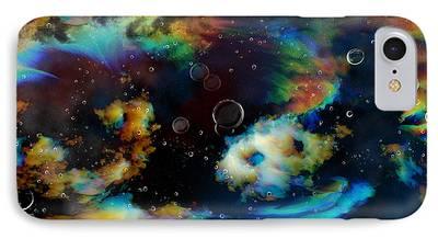 Florescent Lighting Digital Art iPhone Cases