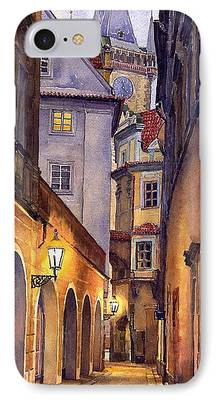 Cityscape Paintings iPhone Cases