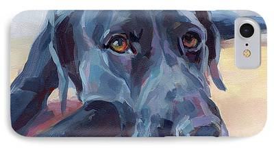 Black Dog Paintings iPhone Cases