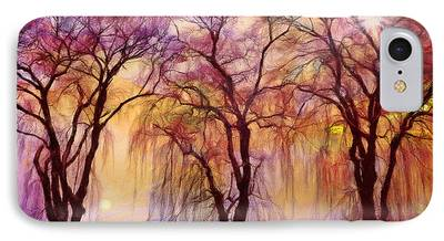 Willow Lake Mixed Media iPhone Cases