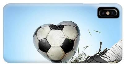 Soccer Iphone Xs Max Cases Fine Art America