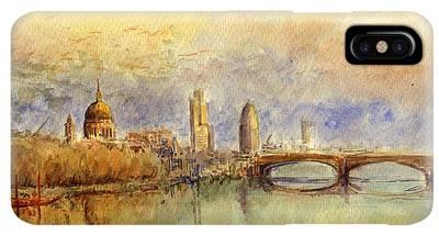 Thames Iphone Xs Max Cases Fine Art America