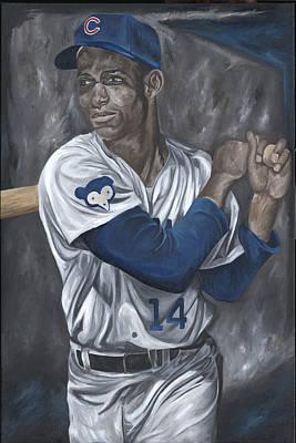 Chicago Cubs Ernie Banks Baseball Mlb Batter Batting David Courson Sports Posters